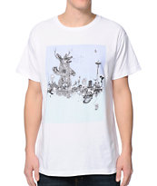 Spacecraft Attack White Tee Shirt