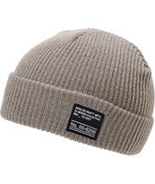Spacecraft Dock Grey Fold Beanie