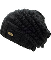 Spacecraft Girls Anise Black Contrast Knit Beanie