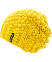 Spacecraft Girls Stella Mustard Slouch Beanie