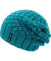 Spacecraft Girls Stella Teal Knit Slouch Beanie