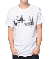 Spacecraft Hat And Boots White Tee Shirt