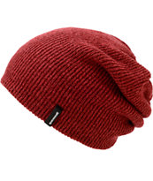 Spacecraft Heather Dark Red Beanie
