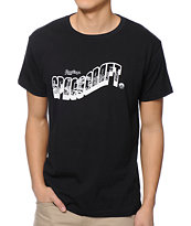 Spacecraft Postcard Black T-Shirt
