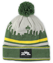 Spacecraft Skyline Pom Beanie