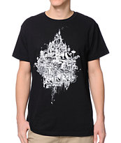 Spacecraft Small Planet Black Tee Shirt