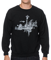 Spacecraft Take Off Crew Neck Sweatshirt