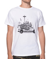 Spacecraft Van Life White Tee Shirt