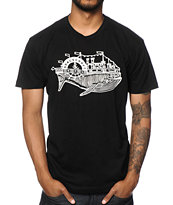 Spacecraft Whale Boat Tee Shirt