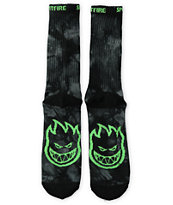 Spitfire Big Head Tie Dye Crew Socks