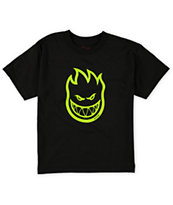 Spitfire Boys Bighead Black & Green Tee Shirt