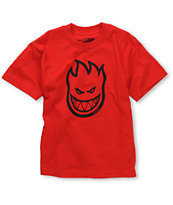 Spitfire Boys Bighead Red Tee Shirt