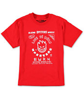 Spitfire Boys Blazing Red Tee Shirt