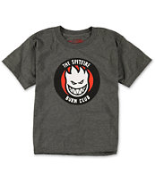 Spitfire Boys Burn Club Charcoal Grey Tee Shirt