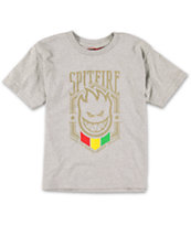 Spitfire Boys Emblem Grey Tee Shirt