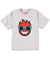 Spitfire Boys Wayfarer Grey & Red Tee Shirt