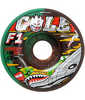 Spitfire Cole Warhawk Swirl Street Burners 53mm Skateboard Wheels