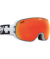 Spy Doom White & Red Spectra 2014 Snowboard Goggles