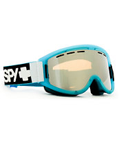Spy Getaway Blue Neon Lights Snowboard Goggles