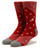 Stance Barrio Red Crew Socks