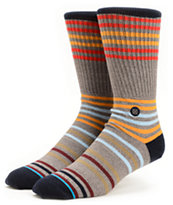 Stance Earnest Grey Striped Crew Socks
