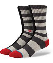 Stance Fifty Fifty Grey Striped Crew Socks