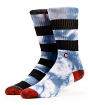Stance Garcia  Striped & Tie Dye Crew Socks