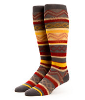Stance Girls Electric Ethnic Charcoal Stripe Knee Socks