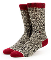Stance Girls Fireside Black Speckle & Red Crew Socks
