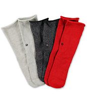 Stance Girls Glamour Gift Box Red, Grey & Black Crew Socks