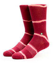Stance Girls One Love Wine Tie Dye Crew Socks