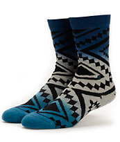 Stance Girls Taos Remix Blue Ombre Crew Socks