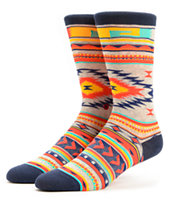 Stance Girls Tribute Native Print Crew Socks