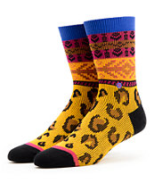 Stance Girls Wariors Tribal & Cheetah Print Crew Socks