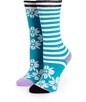 Stance Hula Flowers Crew Socks