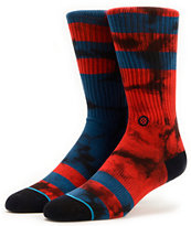 Stance Invert Red & Blue Crew Socks
