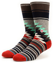 Stance Laredo Grey Striped Crew Socks