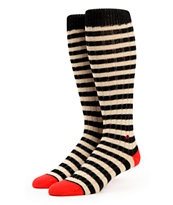 Stance Le Select Black & White Stripe Knee Socks