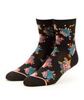 Stance Midnight Rose Floral Crew Socks