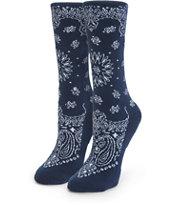 Stance Navy Bandana Crew Socks