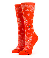 Stance Red Bandana Crew Socks
