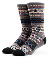 Stance Rockland  Grey Native Print Crew Socks