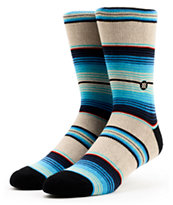 Stance Salina Cruz Blue Striped Crew Socks