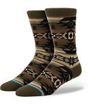 Stance Tomahawk Brown Native Print Crew Socks