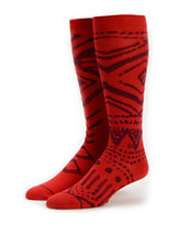 Stance Tribal Red Knee Socks