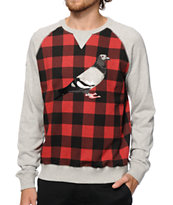 Staple Tartan Pigeon Crew Neck Sweatshirt