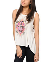 Starling Anna Good Vibes Muscle Tee