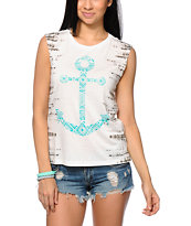 Starling Batik Tribal Anchor Muscle T-Shirt