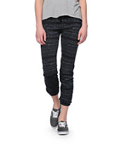 Starling Black & Grey Tribal Print Sweat Pants