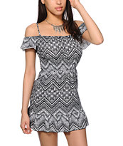 Starling Cold Shoulder Tribal Dress